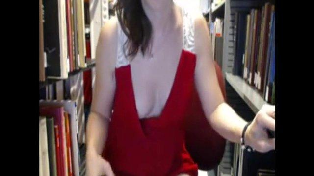 Masturbation in red stockings